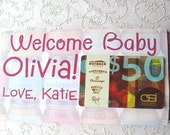 Baby food jar edible gift card holder