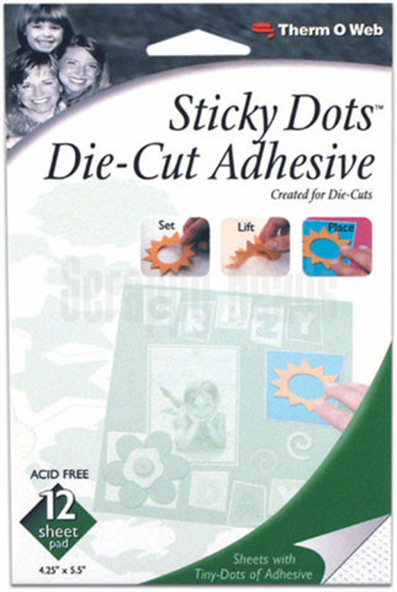 Sticky Dots Die-Cut Adhesive Scrapbooking/Crafts