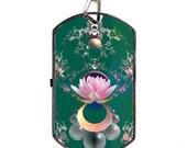 USB Stick Necklace Fractal Art Lotus 2-4-8 GB  storage-trippy-psychedelic-cyberpunk-matrix rave -add Your Name