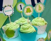 Frog Prince Cupcake toppers and wrappers - DIY custom printable