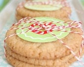 Gingerbread Christmas Cookies Printable Cupcake Circles and Wrappers - DIY