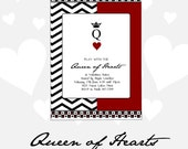 Queen of Hearts Valentines Party Invitation - DIY Printable