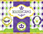 Mardi Gras Printable Party as seen in YUM Food and Fun For Kids Magazine -- SALE