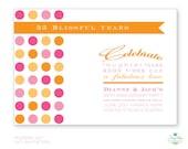 Modern Dot 35th 25th Anniversary Custom Printable Invitation