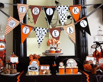 Halloween Trick or Treat Printable Party - INSTANT DOWNLOAD