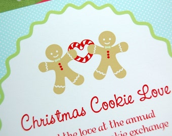 Gingerbread Christmas Cookies Printable Invitation - DIY