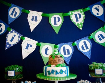 Dinosaur Printable Happy Birthday  Banner - DIY