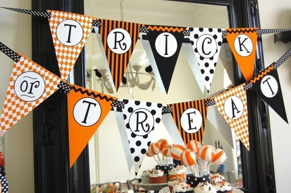 Items Similar To Halloween Trick Or Treat Banner Diy