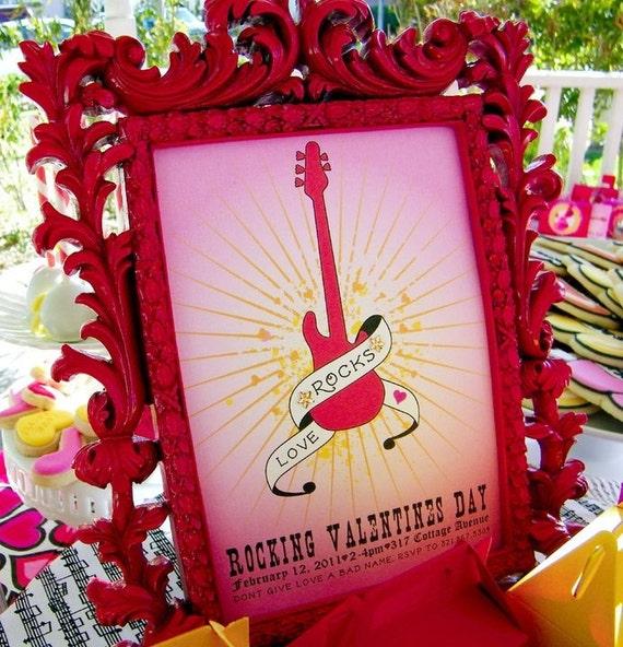 Love Rocks Valentines Party Invitation - DIY Printable