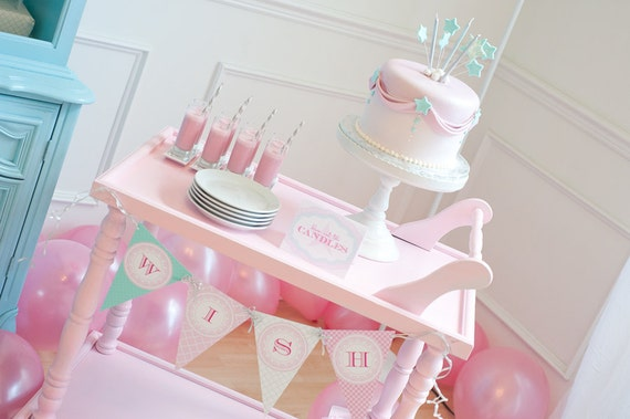 Make a WISH Custom Birthday Printable Party Pack as seen on HOSTESS Blog - SALE!!