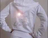 Custom Rhinestone Bridal hoodie for your preWedding, Wedding, Honeymoon