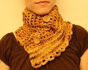 KNITTING PATTERN // PDF instant download // Sport weight yarn scarf // Kootenay scarf