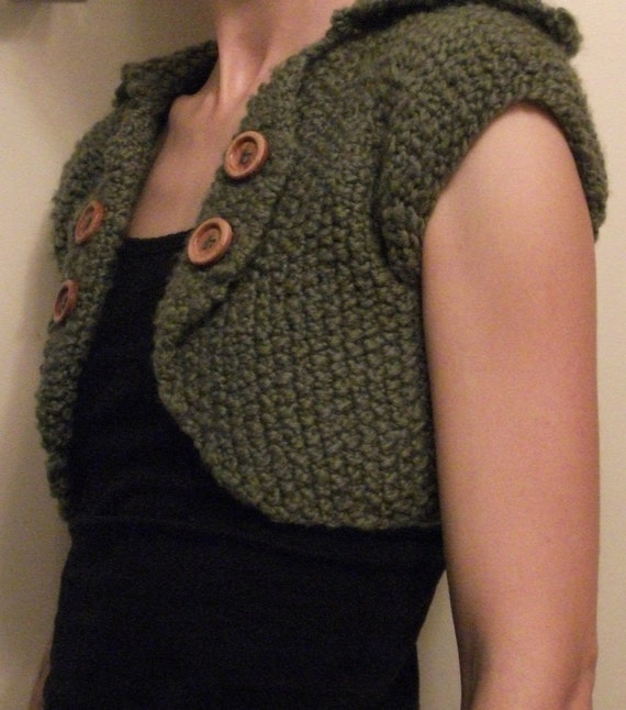 KNITTING PATTERN // PDF instant download // Bulky yarn customizable bolero // Tankian