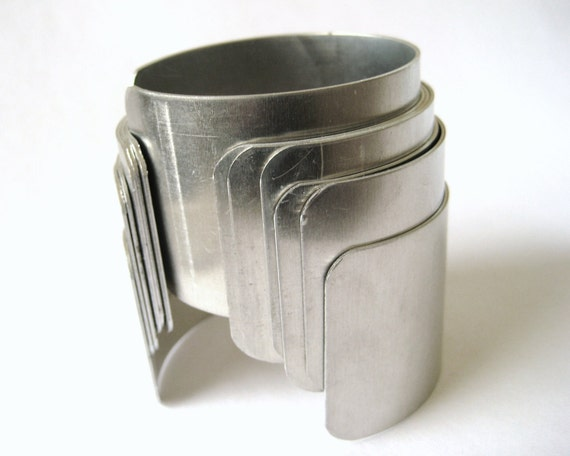 """Aluminum Metal Silver Cuff Bracelet Blanks Thick Findings 1 1/2"""" 1.5 Inch 6pcs"""