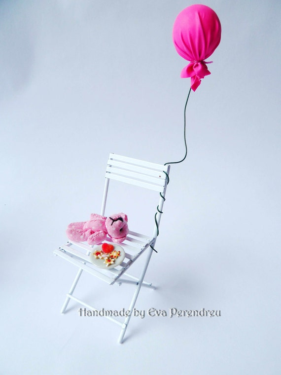 RESERVED FOR JENNIFER, Dollhouse shabby chair for a children party by Evamini