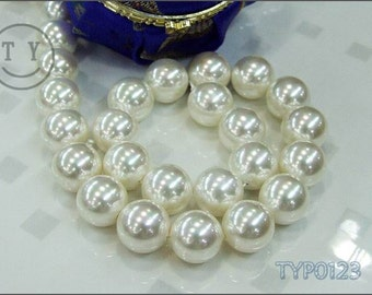 Shell Pearl Necklace 16mm Ivory