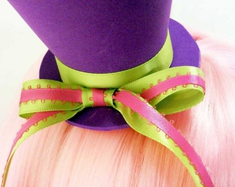 Mad Hatter Style Mini Top Hat in Your Choice of Colors!
