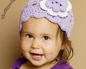 2T to 4T Flower Flapper Hat in Lavender Lace