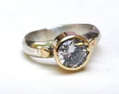 Handmade Engagement Ring, 14k gold ring, 925 silver ring, bridal ring, lab diamond ring, Engagement ring
