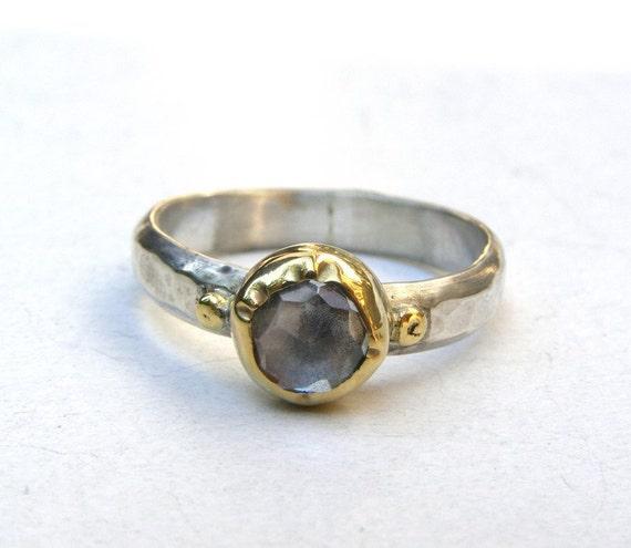 Similar diamond Ring - Engagement Ring - 14k gold ring silver with  White Topaz ring
