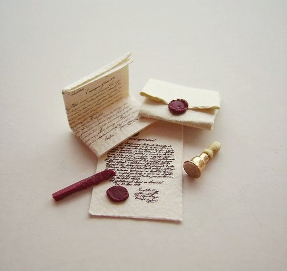 Miniature Seal and Letter Set