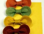 """Felt Hair Clips - Felt Flower Headband, Hair Bow Clip Set """"Harvest Moon"""""""