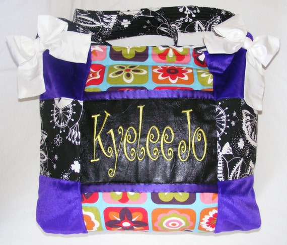 Funky Hippie Colorful Purple fur Baby Diaper Bags or Bag Gorgeous