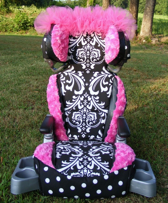 reupholstered car seat covers damask polka dot rose cuddle hot. Black Bedroom Furniture Sets. Home Design Ideas