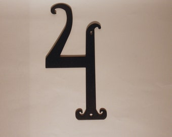 Antique Style Black Metal House Number 5.75 inches Tall New Old Stock