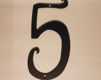 "Antique Style Black Metal House Number New 5.75"" tall New Old Stock"