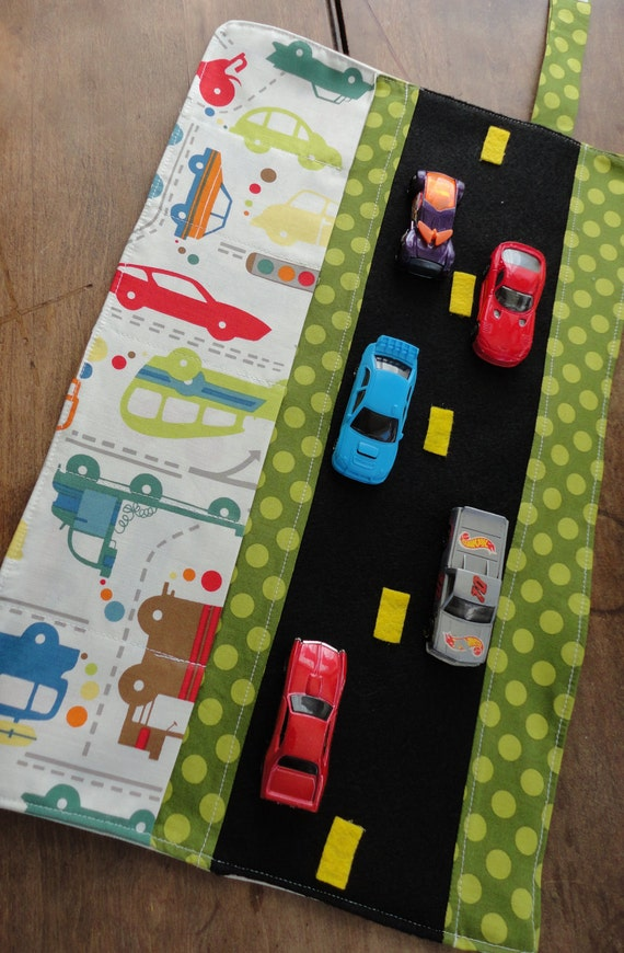 Car Caddy Roll up Tote with Road