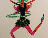 Hoop Love Fairy Bunny Card - imagine dancing with wings...