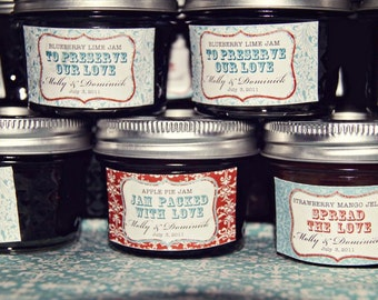Spread the Love. Jam Packed with Love. Jam Label Design Printable file. Made to Match your Weddings by Tipsy Graphics