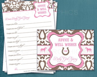 Cowgirl Sweet I Hope Well Wishes or Funny MadLib for the NEW BABY.  By Tipsy Graphics. Printable Cards