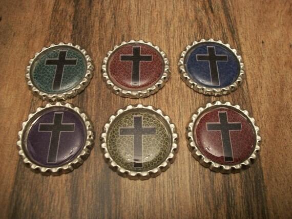 Custom Set of 4 Bottle Cap Magnets