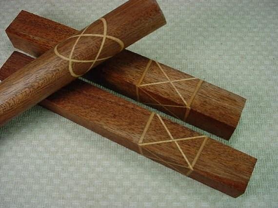 Handmade Pen Stand Designs : Handmade wood celtic knot pen blanks by woodart on etsy