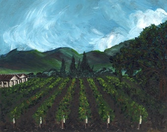 Napa Valley Vineyards Giclee Print