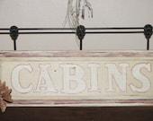 Wood Sign Plaque Cabin Lodge Decor