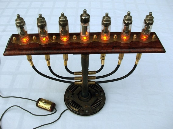 Steampunk Industrial Menorah