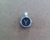 Y Typewriter Key Pendant - luckyLadyDesign
