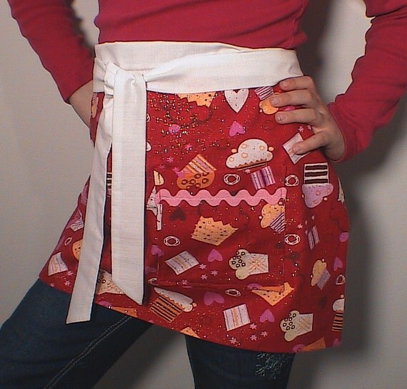 Clearance Apron Set Dolly and Me girls Ultra Glittery  Cupcake