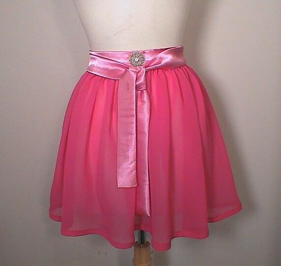 Apron Pink Chiffon Glamour Hostess apron