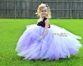 Lavender Hydrangea Tutu Dress for pageants weddings birthdays or dress up 12m 18m 2t 3t 4t
