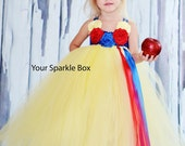 Snow White tutu dress - halloween, pageant, birthday outfit up to 4t