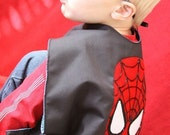 Valentine gift for kids, superhero cape, Spiderman costume, cape, spiderman cape, superman cape, kids cape