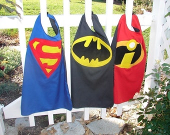 Superman cape, Batman cape, FREE Shipping, superhero cape, birthday gift for kids, gift for kids, kids cape, SHIPS TODAY, Easter gift