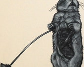 Gopher - Surrealist Oil painting