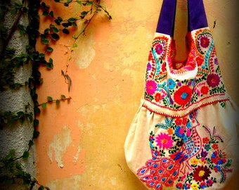 Merida Hobo Embroidered Handbag  Free Shipping