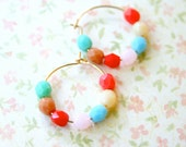 Little Colorful Beaded Children Hoops