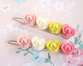 Garden Rose Barrettes